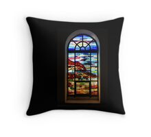 Another Tale of Windows and Magical Landscapes Throw Pillow
