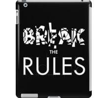 Break The Rules - White iPad Case/Skin