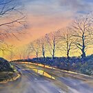 """Sunset on Sledmere Road"" by Glenn  Marshall"