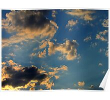 Sunset Clouds 3 Poster