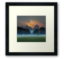 The Clouds Behind The Trees Framed Print