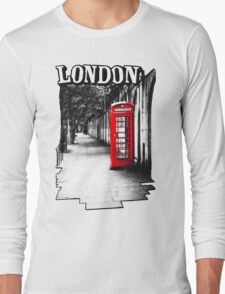 London on the Phone - British Phone Booth Long Sleeve T-Shirt