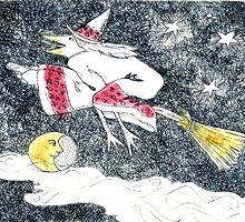 Witching Moon (dark indigo version) by Tama Blough