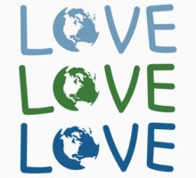 L O V E - Earth Day Kids Clothes
