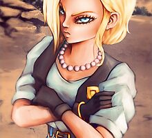 android 18 by Kaizoku-hime