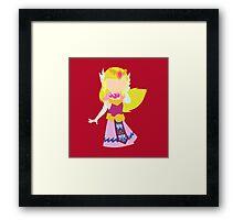 Toon Zelda Framed Print