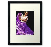Folklore Dancer, Ciudad Colon, Costa Rica Framed Print