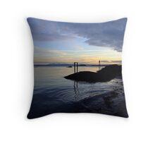 Aberdour Black Sands Throw Pillow