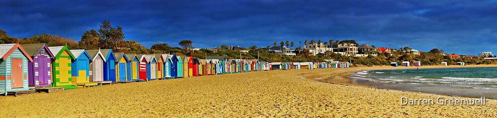 Brighton Beach Bathing Boxes by Darren Greenwell