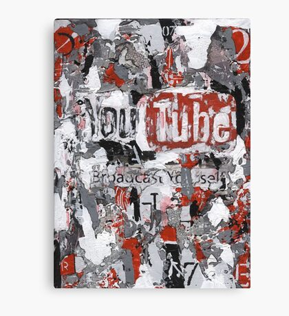 Social Series - Youtube Canvas Print