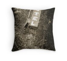 Old Motel Sign Throw Pillow