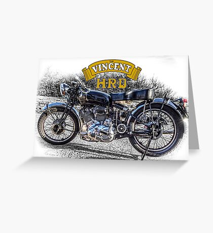 Vincent HRD Black Shadow Motorcycle Greeting Card