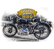 Vincent HRD Black Shadow Motorcycle Photographic Print