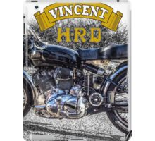 Vincent HRD Black Shadow Motorcycle iPad Case/Skin