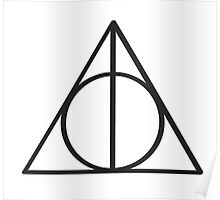 Harry Potter Deathly Hallows symbol Poster