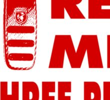 Real Men Use Three Pedals - Red Sticker