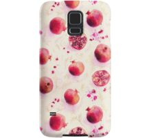 Painted Pomegranates with Gold Leaf Pattern Samsung Galaxy Case/Skin