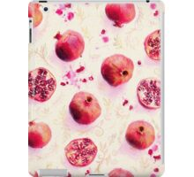 Painted Pomegranates with Gold Leaf Pattern iPad Case/Skin