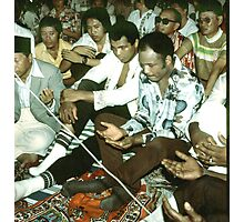 Mohammad Ali at Friday Prayer before boxing bout. Photographic Print