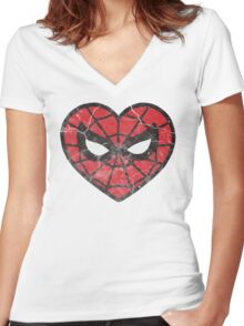I <3 Spider-man Women's Fitted V-Neck T-Shirt