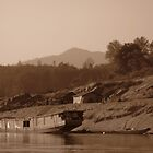 Lone Slow Boat on the Mekong by MeBoRe