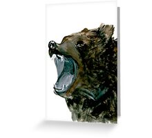 Grizzly Bear, expressive,  Greeting Card