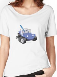 Dune Buggy Manx w Surfboard Women's Relaxed Fit T-Shirt