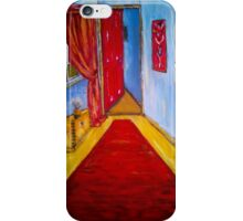 Down the Blue Passage with Flowers iPhone Case/Skin