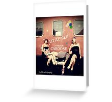 The Little Red Caboose Greeting Card