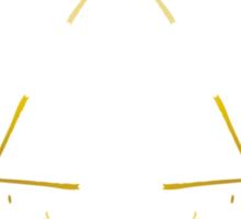 Golden Lines - Triangle Sticker