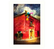 Dusk in Oaxaca Mexico Art Print