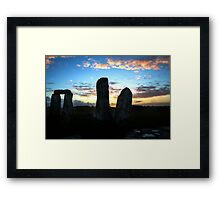 Post sunrise Framed Print