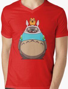 Finn Totoro Mens V-Neck T-Shirt