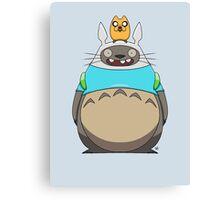 Finn Totoro Canvas Print