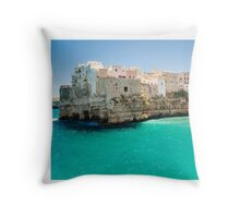 Puglia, Polignano a Mare Throw Pillow