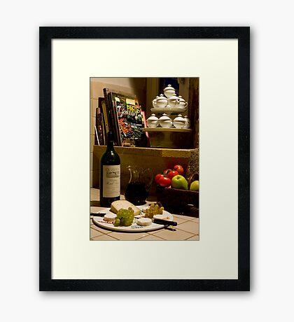Un verre de vin rouge?  A glass of red wine? Framed Print