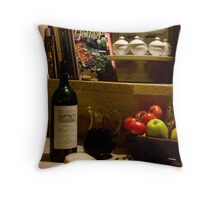 Un verre de vin rouge?  A glass of red wine? Throw Pillow