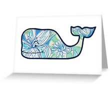 Vineyard Vines Whale Lilly Print 3 Greeting Card