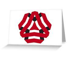 Modern - Triangle Flower Greeting Card