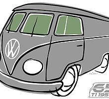 VW Type 2 van grey by car2oonz