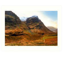 West Highland Way - Glen Coe - Scotland Art Print