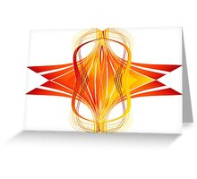 Fire Waves Expanding Greeting Card