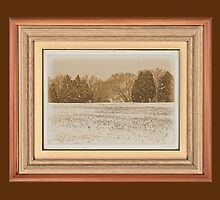 """Wide Country Christmas"" ... with a matted and framed look for prints and products by © Bob Hall"