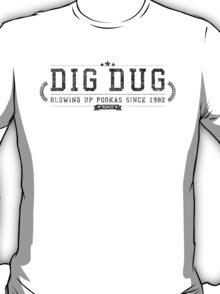 Dig Dug - Retro Black Dirty T-Shirt