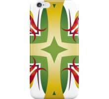 Golden Crosses, Red Lilies iPhone Case/Skin