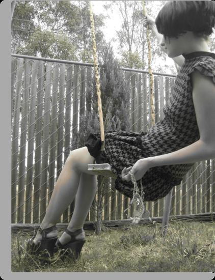 Houndstooth Knit Bubble Dress by Brooke Hyrapiet