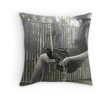 Houndstooth Knit Bubble Dress Throw Pillow