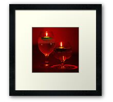 Two Floating Candles Framed Print