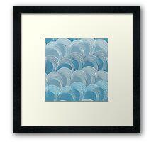 Waves pattern Framed Print