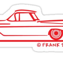 1959 1960 Chevrolet El Camino Red Sticker
